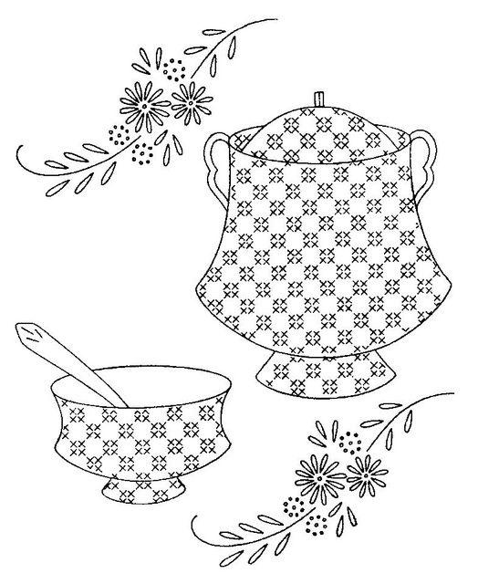 S 136 d | Vegetales, Bordado y Dibujos para bordar