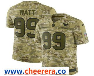 Men s Houston Texans  99 J.J. Watt 2018 Camo Salute to Service Stitched NFL  Nike Limited Jersey f9a7ca753