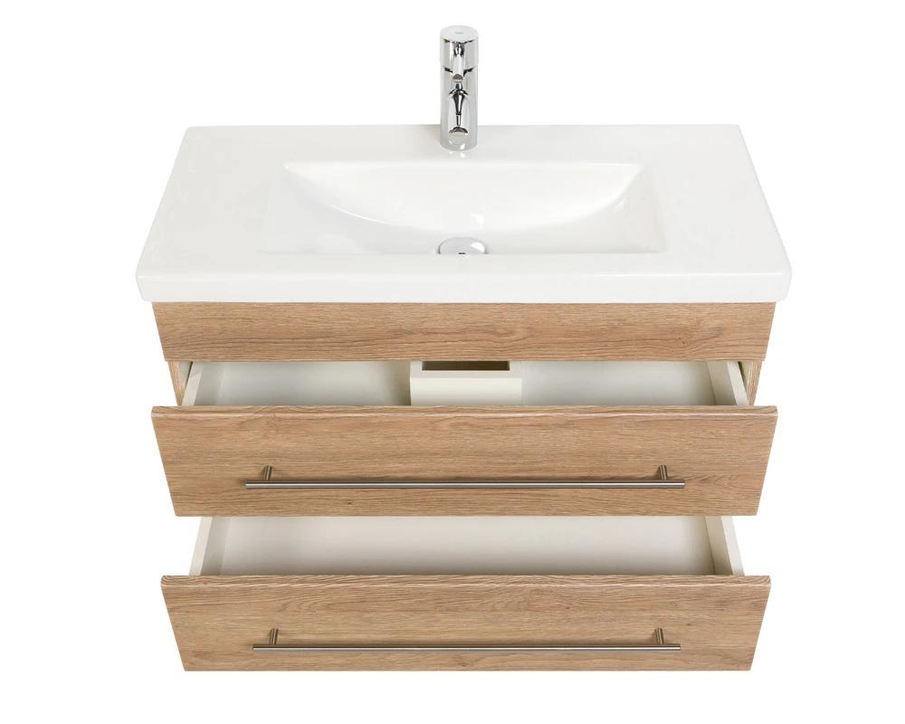 Bathroom Furniture Mars 800 Slimline Light Oak Bathroom