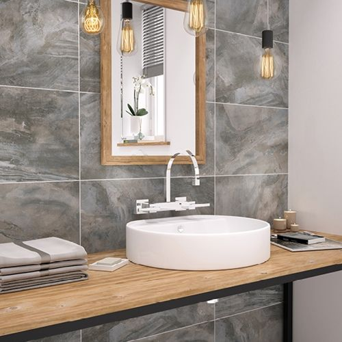Stoneware Slate Tile Bathroom Wall Tile Johnson Tiles Buy Now At Horncastle Tiles For Lowest Uk Prices Slate Bathroom Tile Bathroom Wall Tile Johnson Tiles