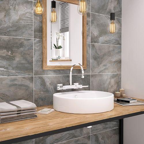 Stoneware Slate Tile Bathroom Wall Tile Johnson Tiles Buy Now At Horncastle Tiles For Lowest Uk Prices Slate Bathroom Tile Bathroom Wall Tile Johnson Tiles