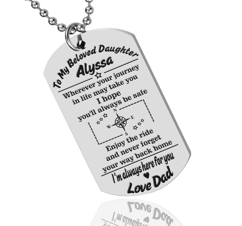 Her Gift Daughter Personalized Gift Idea Man Army Dog Tag Keychain