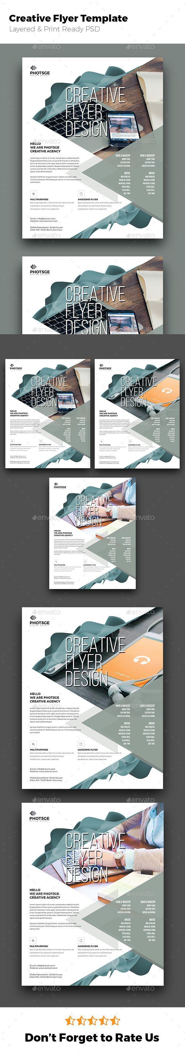 creative flyer design black blue both side design business card