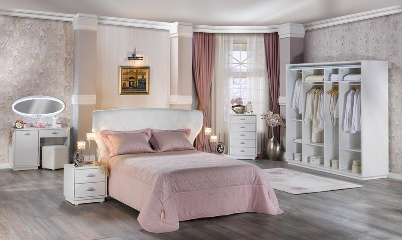 Bellona Juliet Yatak Odasi Takimi Tamami Beyaz Uzerine