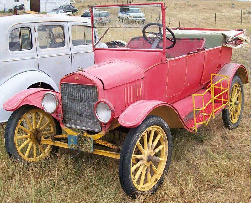 1920 ford red trucks | 1920 Ford Model T 3 Door 5 Passenger Touring ...