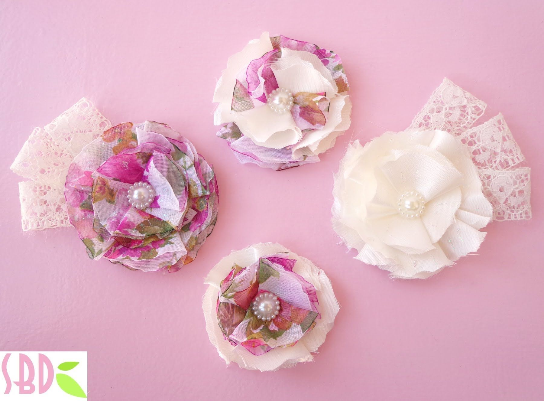 Tutorial fiori di stoffa fabric flowers crafts for Tutorial fermaporta di stoffa