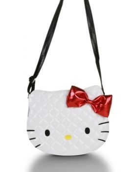 Hello Kitty White Quilted Face Crossbody Bag...this or a Chanel bag ... 5b94afc9d7