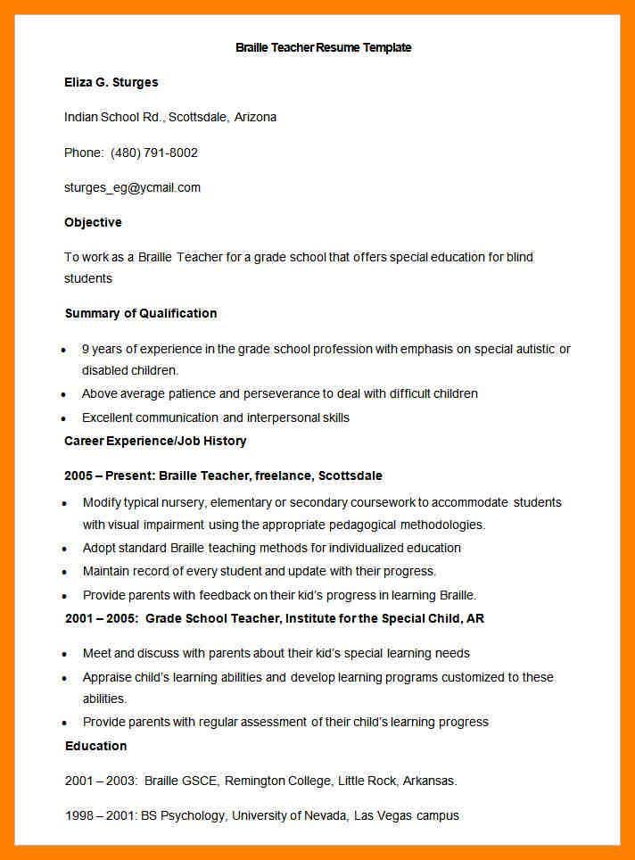 4 biodata format for teachers emt resume News to Go 2 Pinterest - emt resume