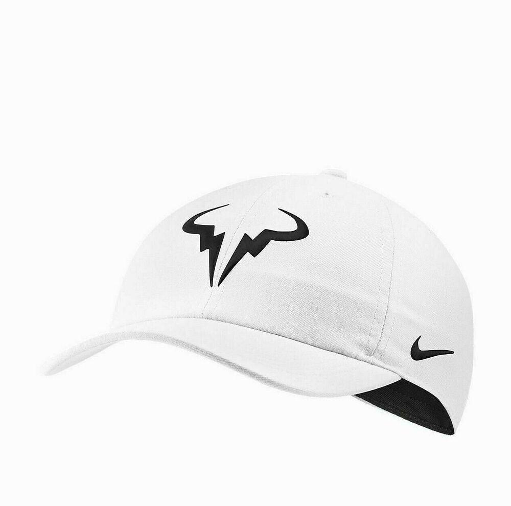 Nike Rafa Nadal Bull Aerobill Heritage 86 Tennis Hat White Black 850666 101 Ebay In 2020 White And Black Rafa Nadal Tennis