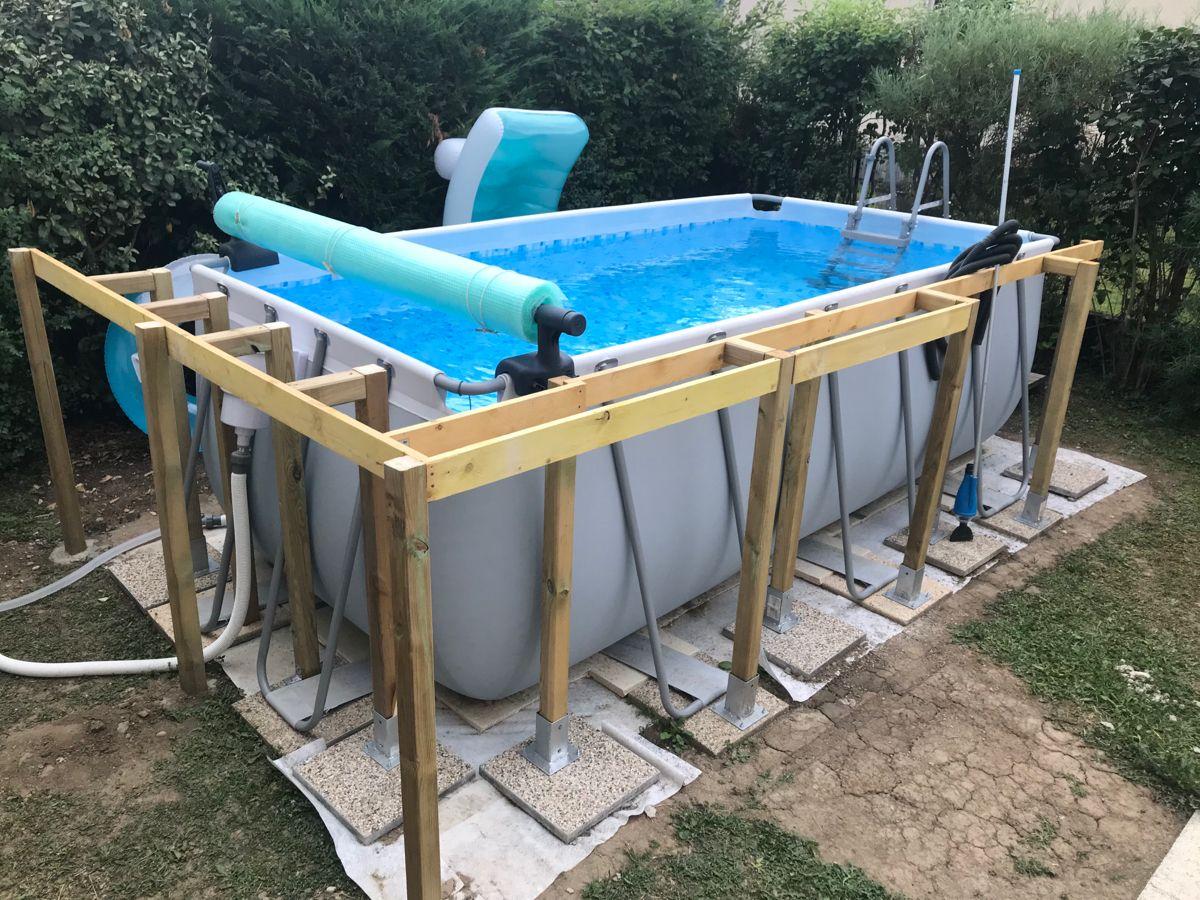 Habillage piscine tubulaire  Habillage piscine hors sol, Piscine