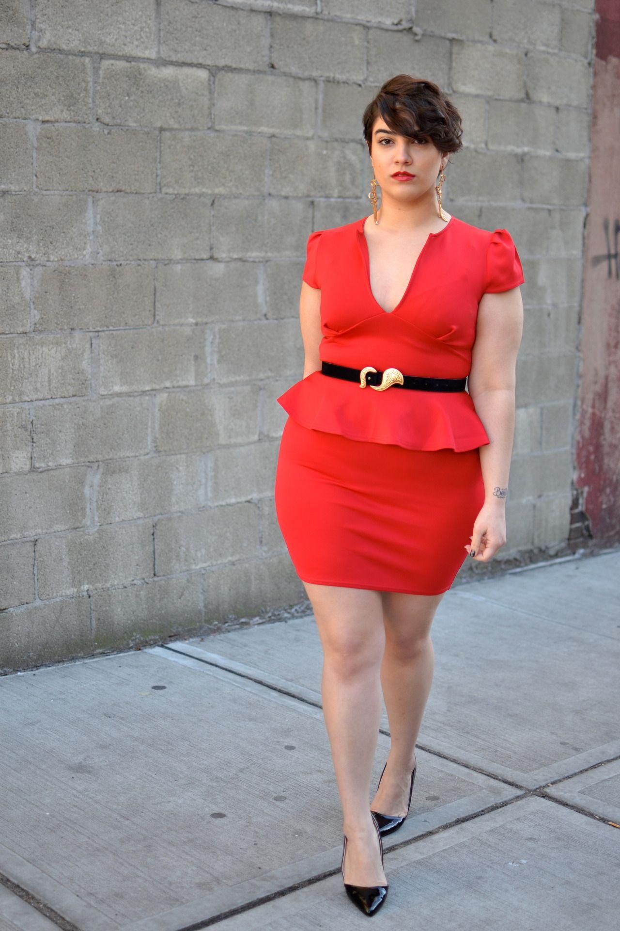 love the dress. Short hair, Dont care. | Best plus size ...