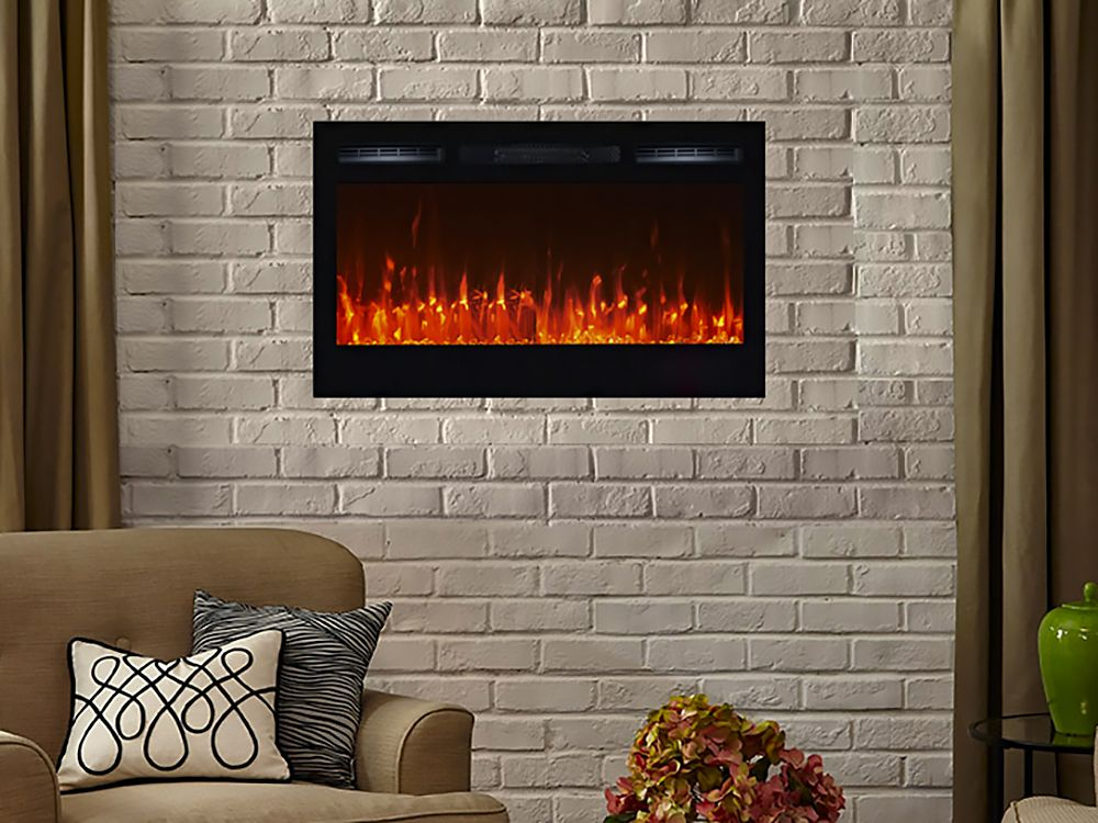 Touchstone 36 In Sideline Built In Electric Fireplace 80014