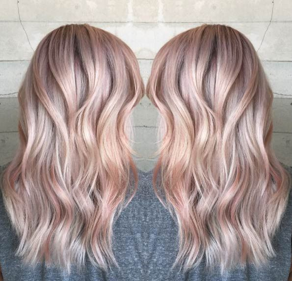 40 Trendy Rose Gold Hair Color Ideas Hairstyles Gold Hair Colors