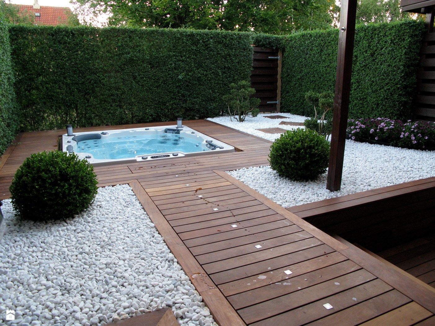 Poolabdeckung Holzdeck Minibasen Spa Hydropool Model H 775 Zdjęcie Od Meadow Group