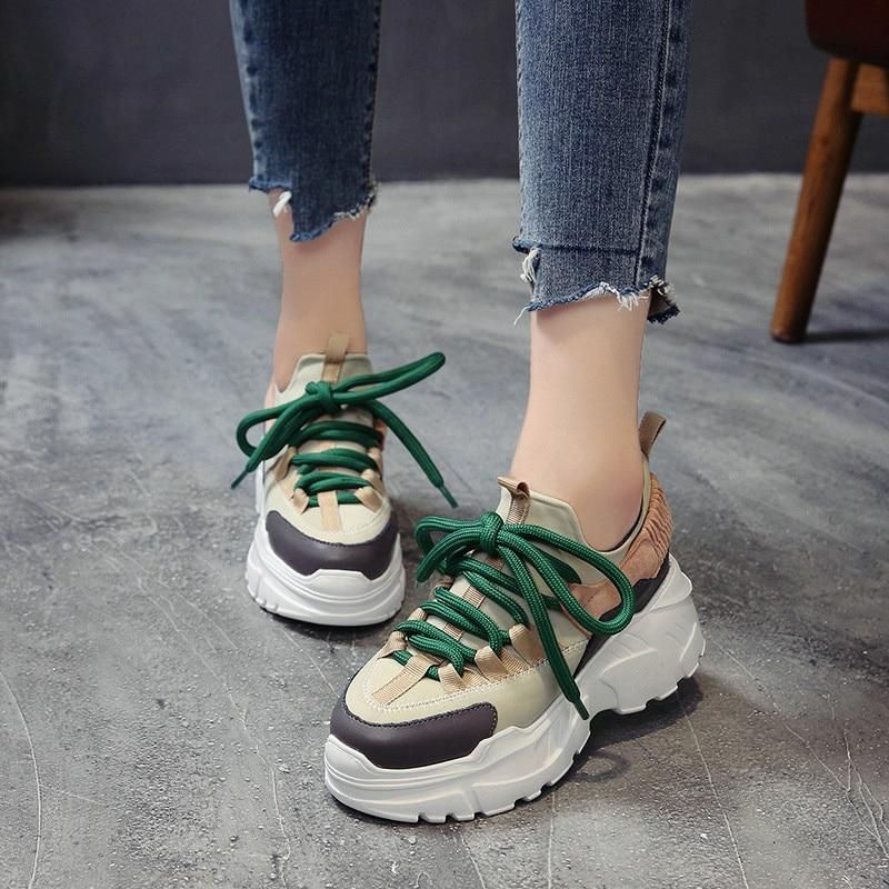 875d17d4c3f ADBOOV New Fall Winter Platform Sneakers Women Height Increasing 7 cm  Chunky Shoes Woman Plus Size 35-42 Ladies Wedge Shoes