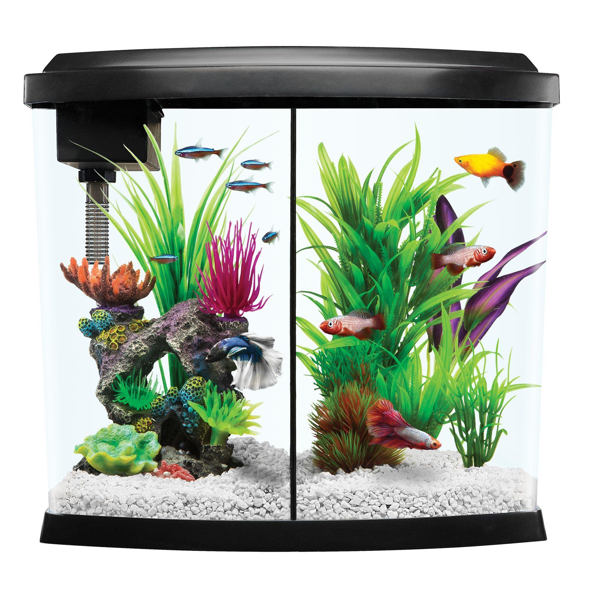 Top Fin LiquidySplit Aquarium Kit size 5 Gal, gravel