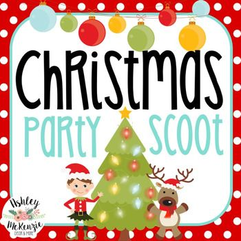 Christmas Party Scoot Activity 30 Cards Christmas Party Holiday Party Kids Winter Holiday Party