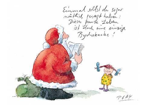Weihnachtsgrüße Teenager.Peter Gaymann Postkarte Psychokacke Meine Liebste Weihnachtskarte