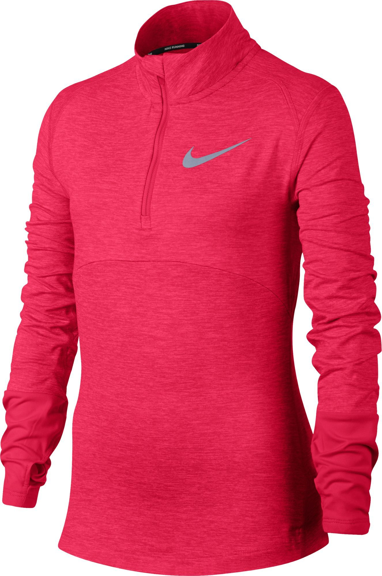 a21deb85 Nike Girls' Dry Element Running Top (Racer Pink/Reflective Silver Heather,  Size Small) - Girl's Apparel, Girl's Athletic Tops at Academy Sports