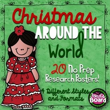 Christmas Around the World Research Posters