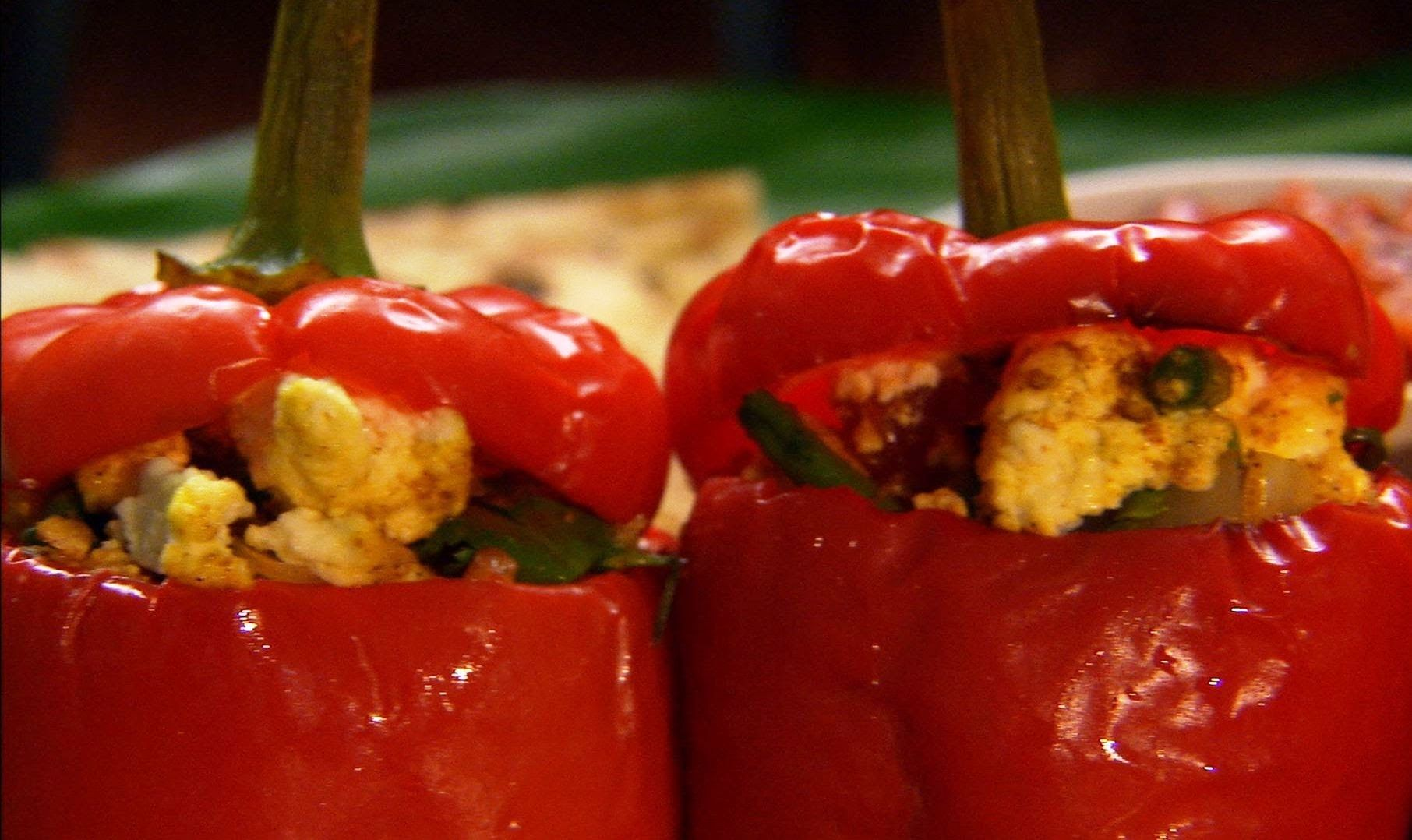 Paneer Stuffed Peppers Indian Food Made Easy With Anjum Anand Bbc Food Stuffed Peppers Indian Food Recipes Bbc Food