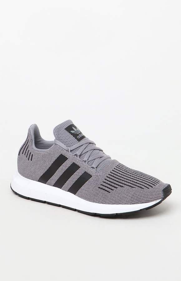 30b75a5d88 adidas Swift Run Grey & Black Shoes | Activewear for Plus size in ...