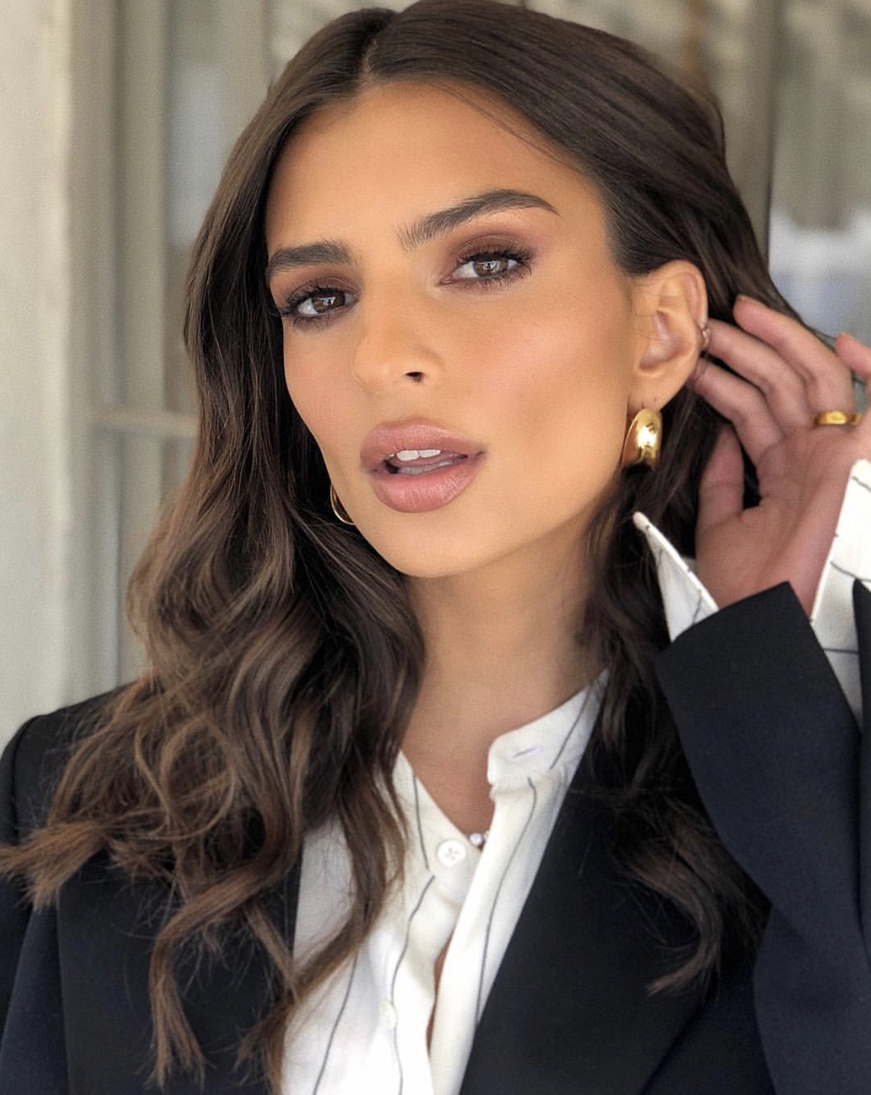 Emily Ratajkowski Makeup by Mary Phillips Emily