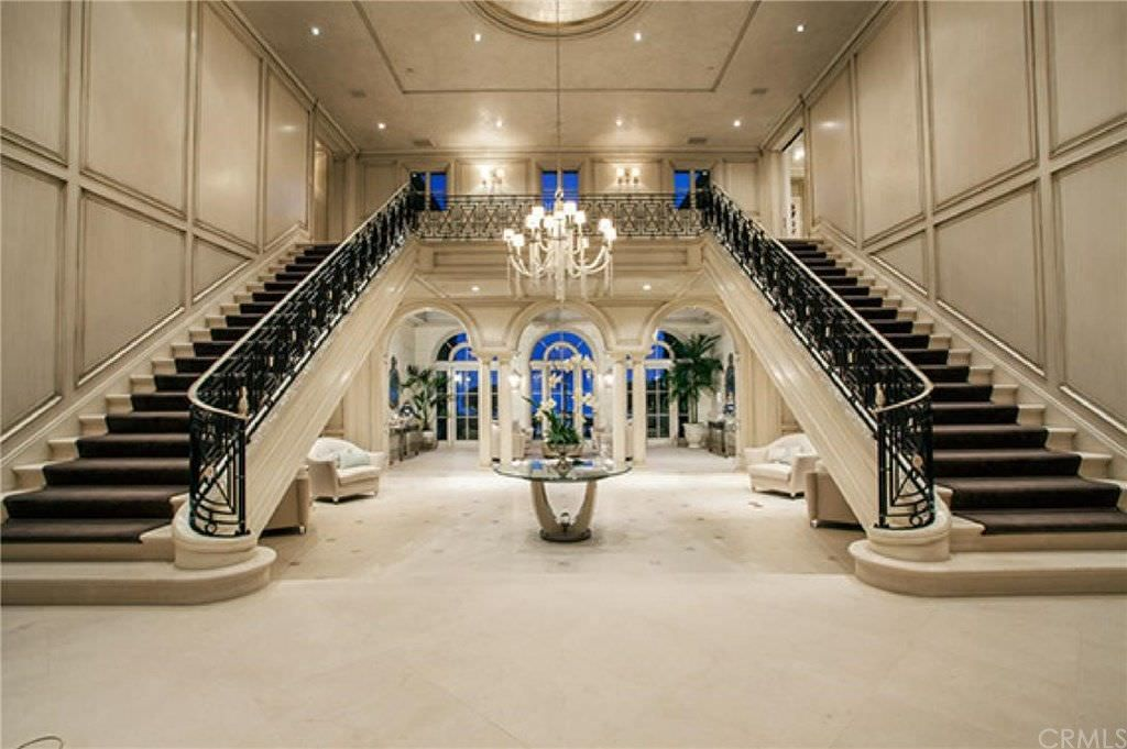 Bifurcated stairs are the way to go if you want to make a