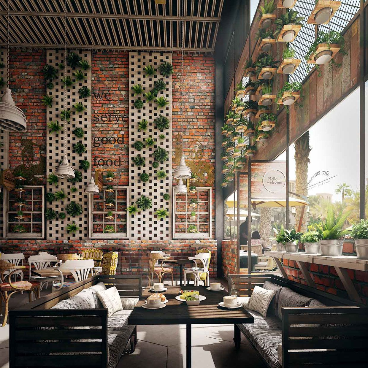 Latest Project - Cafe | office space | Pinterest | Cafes, Cafe ...