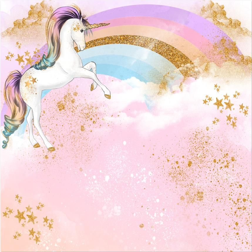 gold stars rainbow unicorn photography