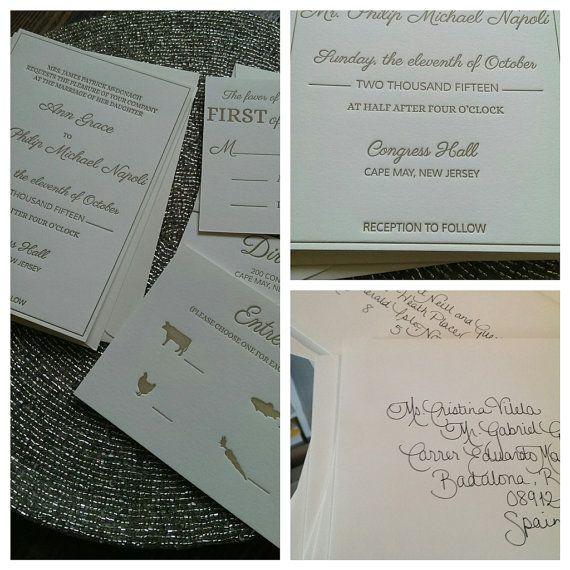 Beautiful, Affordable Letterpress Wedding Invitations ... |Inexpensive Wedding Invitations Letterpress