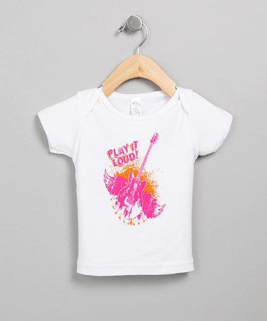 Take a look at this White & Pink 'Play it Loud' Lapneck Tee - Infant by Huddy Buddy & Modern Me on #zulily  #fall today!