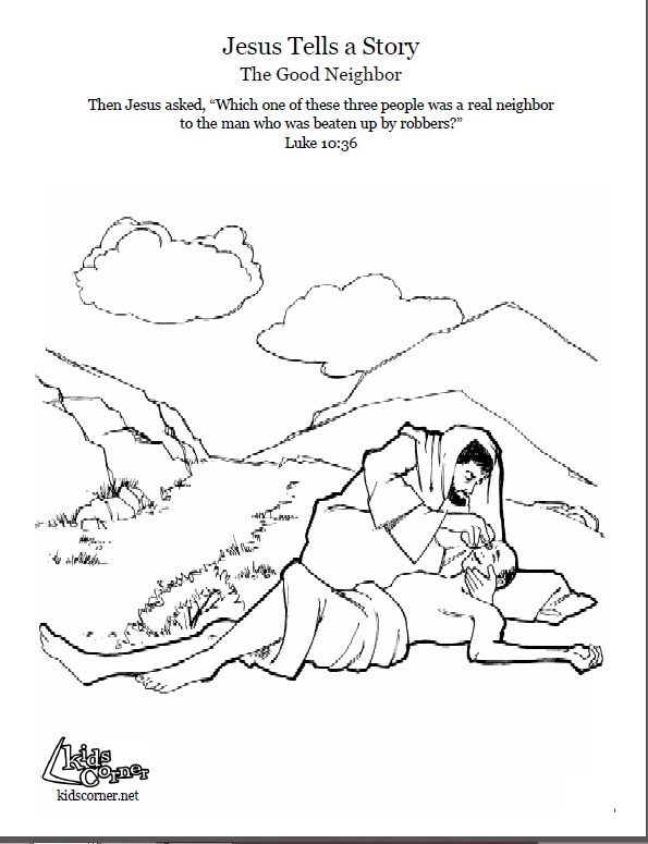 the parable of the good samaritan coloring page audio bible story and script available - Good Samaritan Coloring Page