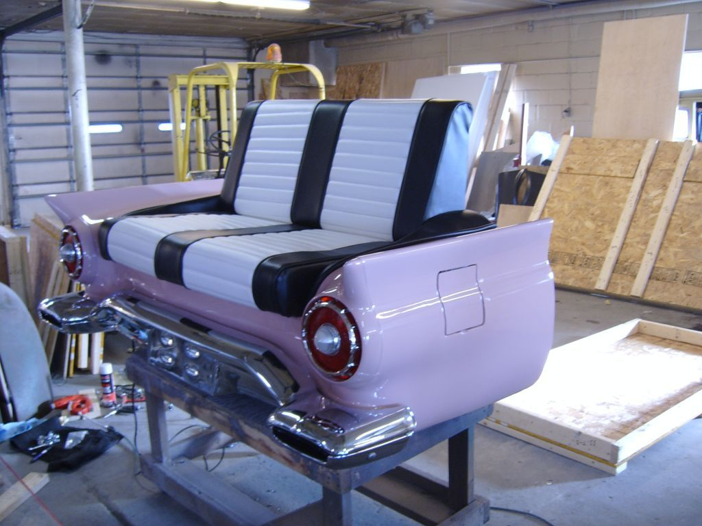 Classic Couches Car Couches Made From Real Cars Car Part Furniture Car Furniture Classic Couch