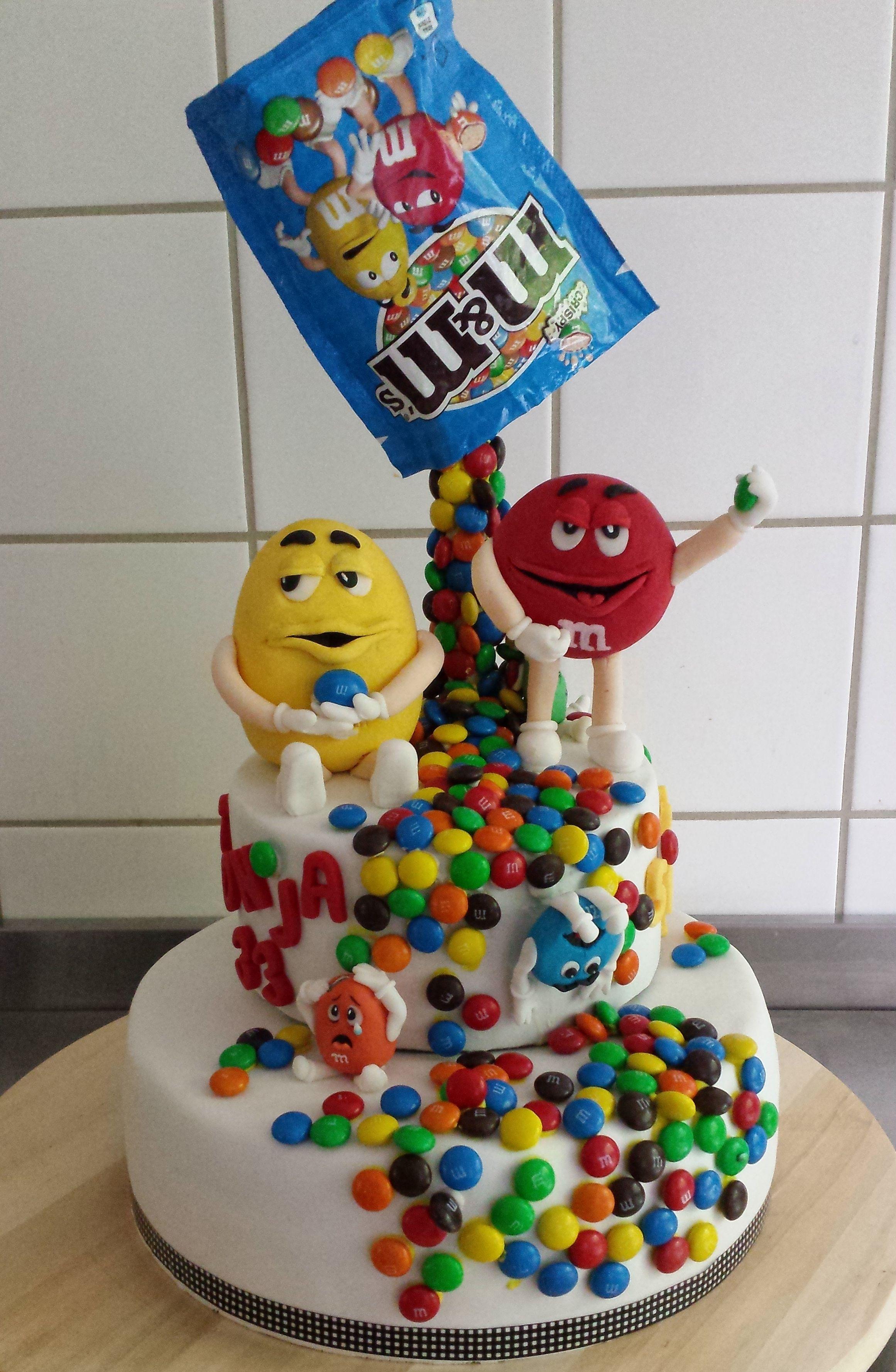 m & m cake #gravitycake
