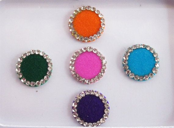 Punjabi Round color Bindis In One Pack Stud With by Beauteshoppe