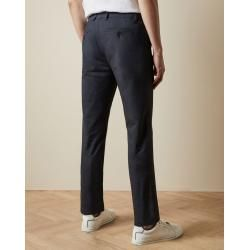 Photo of Slim Fit Semi Plain Cotton Trousers Ted Baker