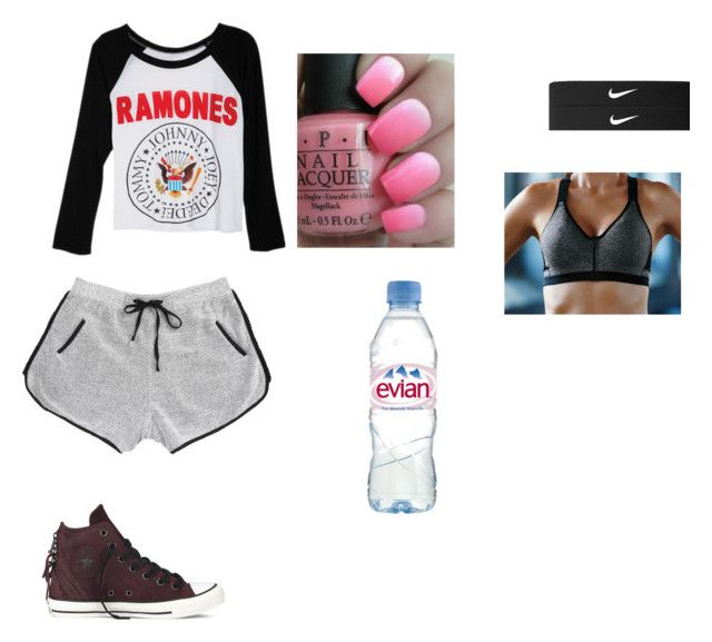 """""""Going running with my sister, hayes grier, and nash grier"""" by slayyeettia ❤ liked on Polyvore featuring Converse, dELiA*s, OPI, NIKE and Victoria's Secret"""