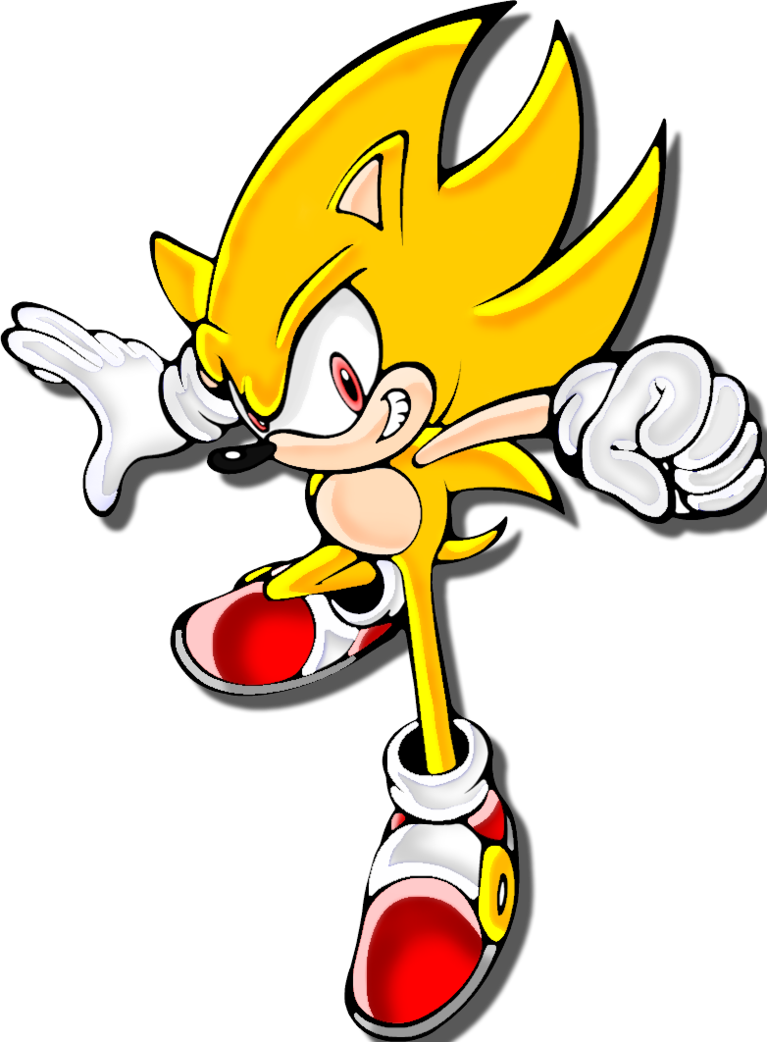 Super Sonic Sa2 By Mephilez Sonic Sonic Dash Sonic And Shadow
