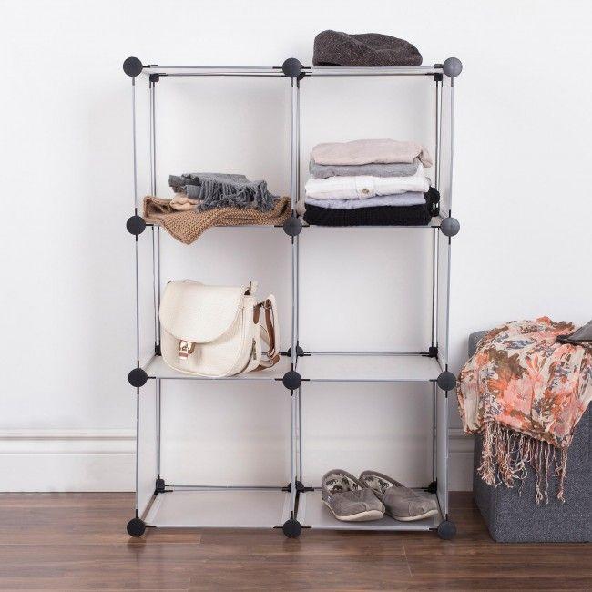 Ksp Closet Cube Plastic Storage Cabinet White Black