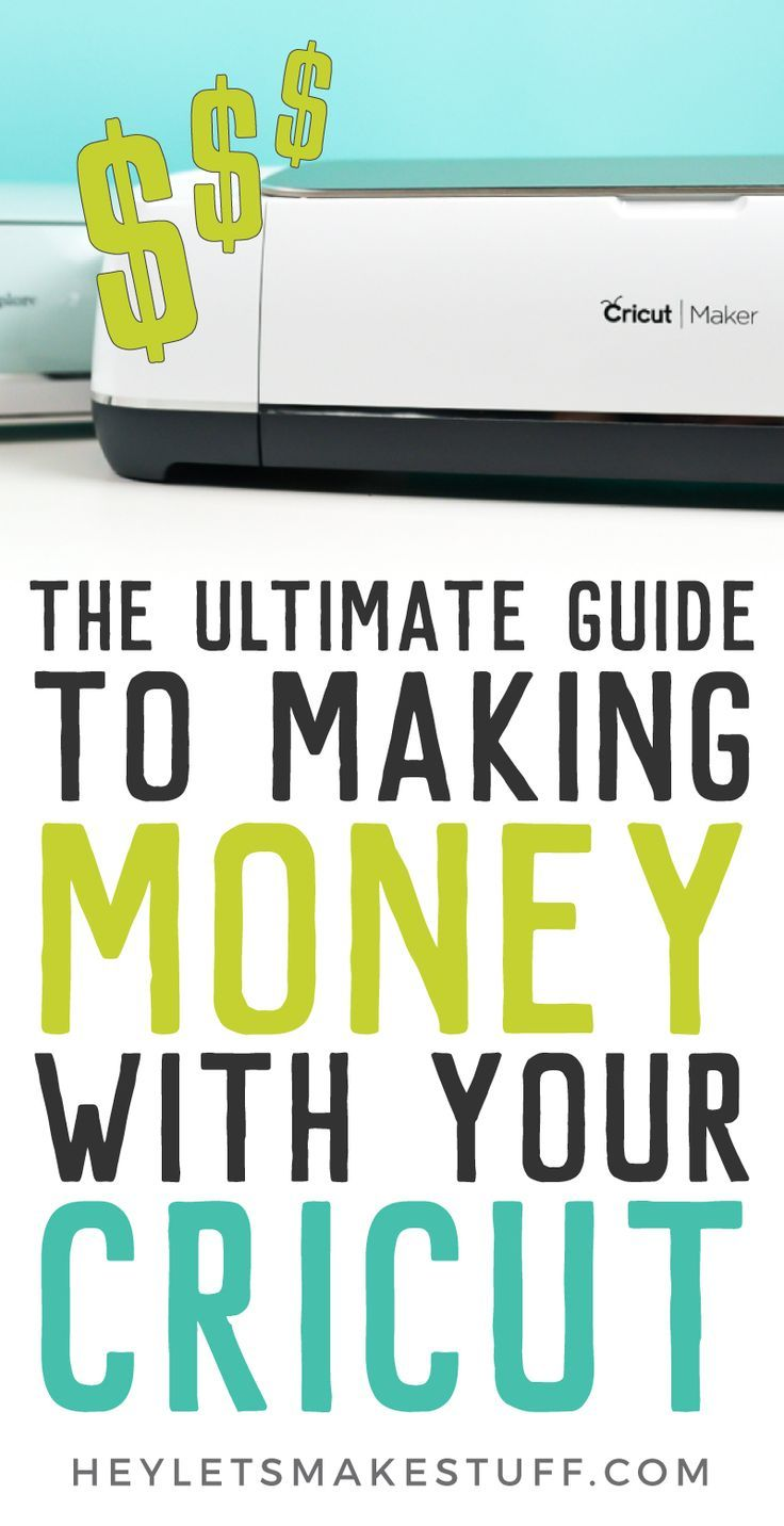 "If you've ever wondered, ""can I make money with my Cricut?"" the answer is yes! Learn everything you need to know about starting a business selling the crafts you make with your Cricut Explore or Maker. AD #cricut #cricutcreated #cricutmaker #cricutexplore"