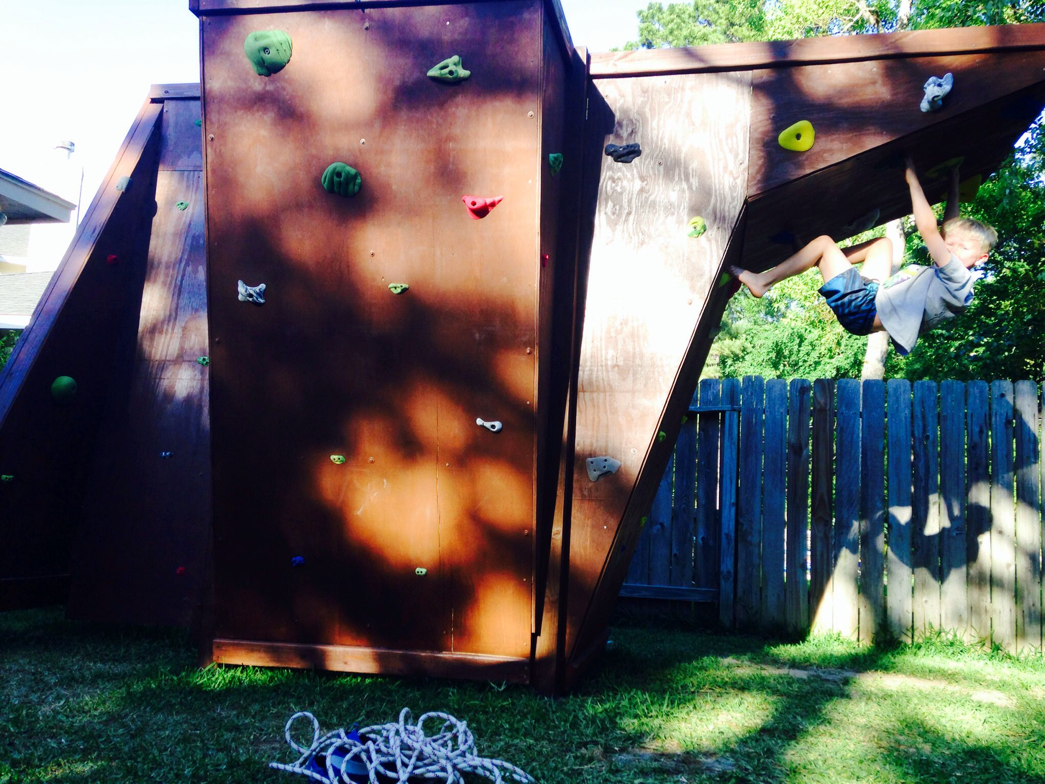 no mountains no problem our own backyard climbing wall