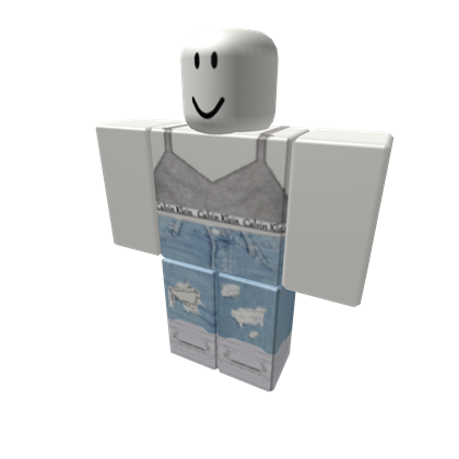 Calvin Klein Crop w Ripped Jeans & White Air Force - ROBLOX