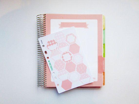 Hexagon Stickers in February Hourly/Horizontal by ThumbelinaPrint