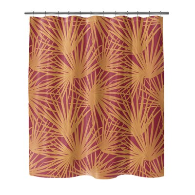 Bay Isle Home Oey Palm Balm Single Shower Curtain Size 72 H X 70