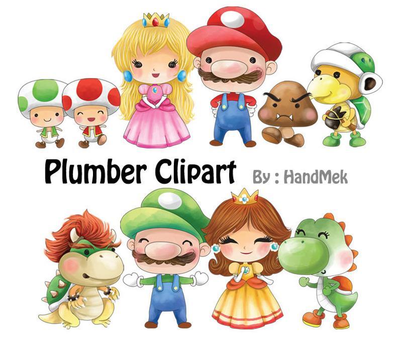 Plumber Clipart Instant DownloadPNG file 300 dpi Etsy