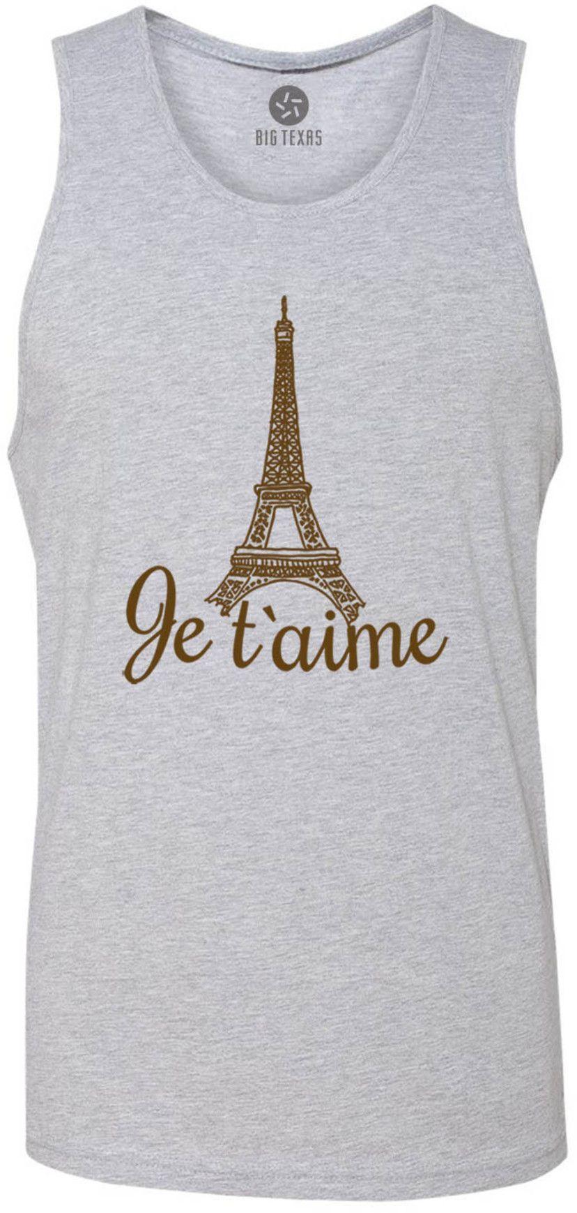 Paris Love (Brown) Tank-Top T-Shirt