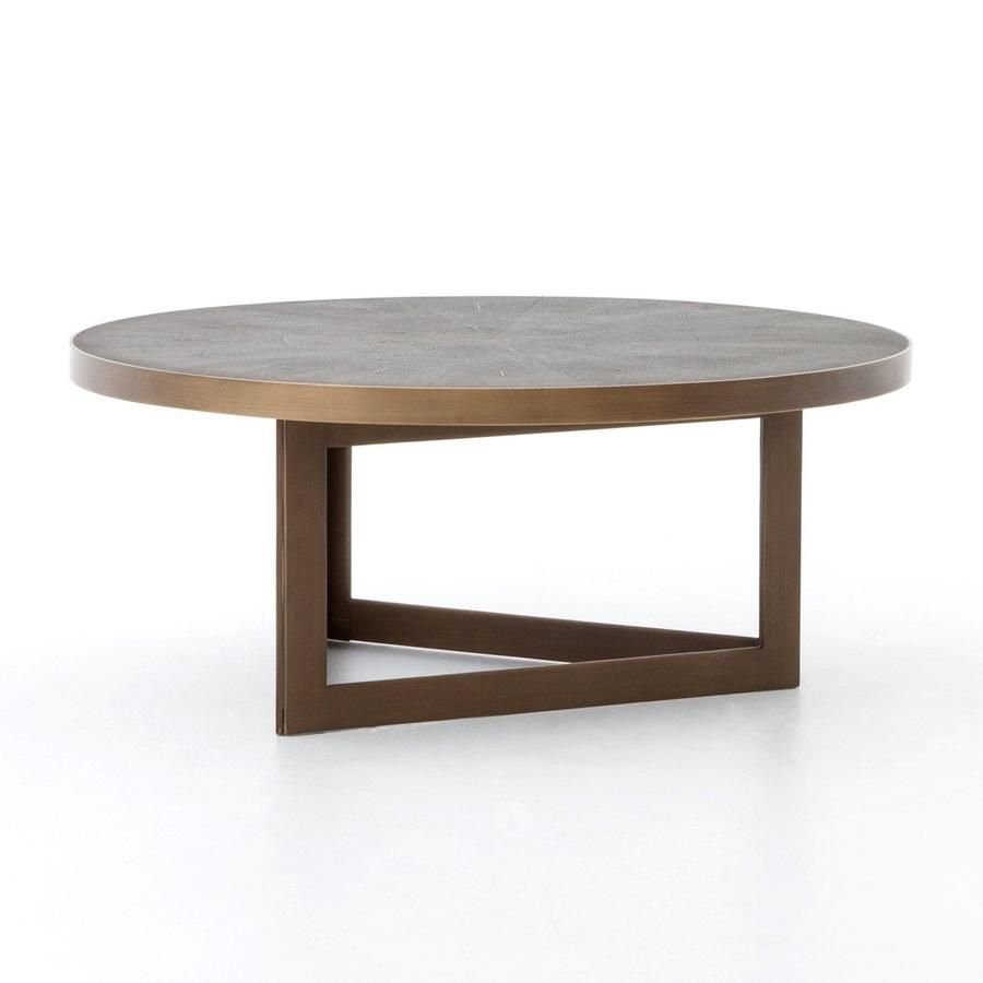 Draper Round Coffee Table In 2021 Shagreen Coffee Table Mid Century Modern Coffee Table Round Coffee Table [ 900 x 900 Pixel ]