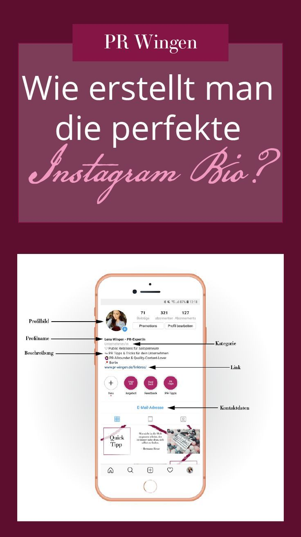 Die perfekte Instagram Bio erstellen   Instagram bio ...