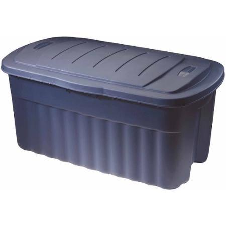 Rubbermaid Roughneck 40 Gallon Hinged Ju Walmart Com Rubbermaid Storage Bins Outdoor Storage Box Rubbermaid Storage